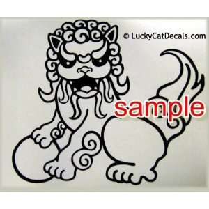 FOO DOG WHITE VINYL DECAL STICKER