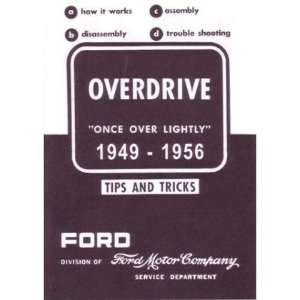 1949 1953 1954 1955 1956 FORD Overdrive Service Manual