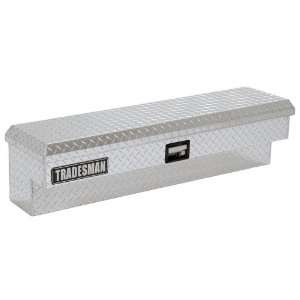 Tradesman 70 inch Aluminum Side Mount Tool Box Bright