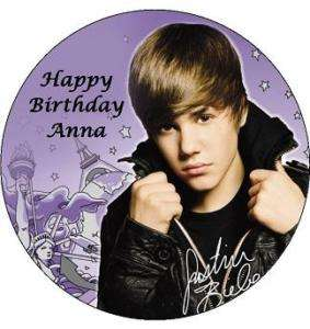 JUSTIN BIEBER EDIBLE ICING CAKE IMAGE TOPPER DECORATION