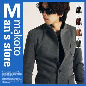 MAKOTO Mens Casual Slim Fit Blazer Jacket FR014J