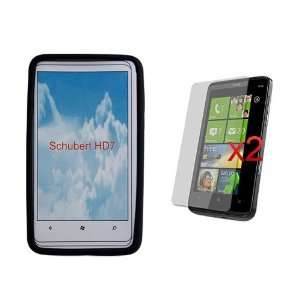 Skque Black Silicone Skin Case + 2xLCD Screen Guard