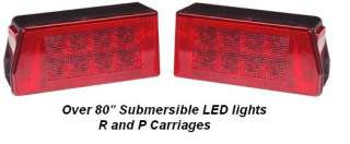 Pair LED Truck Boat Trailer Lights Submersible Over 80