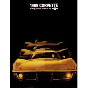 1969 CHEVROLET CORVETTE Sales Brochure Literature Book