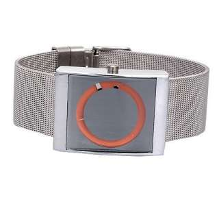nice GIFT fashion orange Stainless Steel case women mens quartz wrist