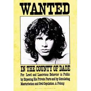 The Doors Jim Morrison Wanted Fabric Poster