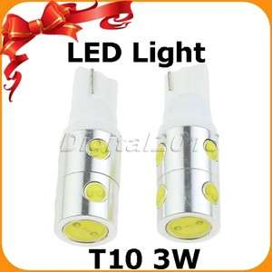 2x 7SMD T10 3W LED High Power Light Bulb 168/194 White