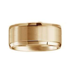 ARTCARVED ELUSIVE Mens 14k Two Tone Gold  Wedding Band (Forever Wa