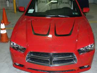 2011 & Up Dodge Charger Hood Scallop Accent Stripes