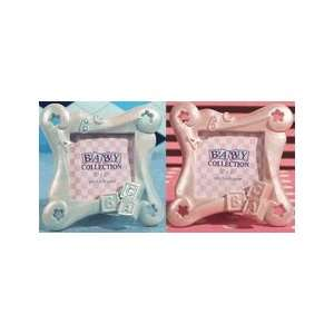 ABC baby block frame favor   Blue or Pink Baby