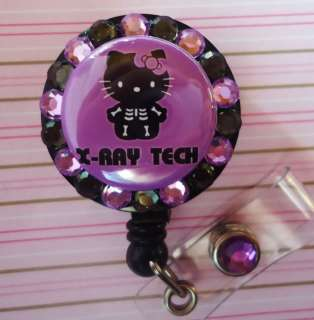 RAY TECH HELLO KITTY RETRACTABLE ID REEL BADGE HOLDER