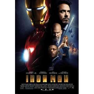 IRON MAN movie poster flyer   11 x 17 inches   Robert Downey Jr   IM02