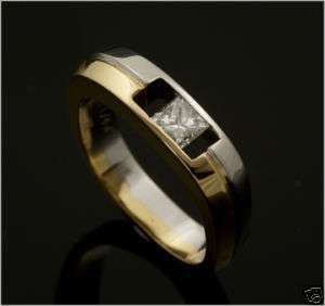 Georg Jensen 18 Ct. White and Yellow Gold Diamond Ring