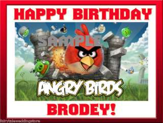 Angry Birds Edible Cake Frosting Image Wii Game Birth*