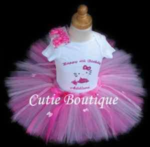 Hello Kitty Birthday Outfit Set With Personalized Shirt