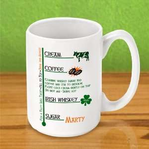 Irish Coffee Personalized Coffee Mug