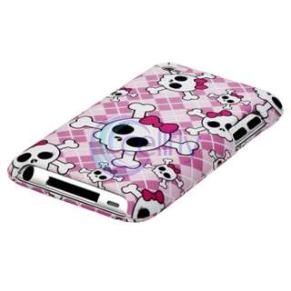 Skull+Heart Hard Plastic Case Cover for iPod Touch 4 4G 4th Gen 8GB