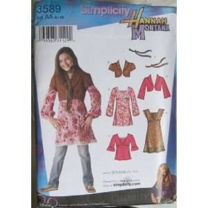 PATTERN 3589 HANNAH MONTANA GIRLS/GIRLS PLUS DRESS MINI DRESS