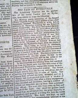 POST GETTYSBURG Wounded Confederates 1863 Civil War Newspaper *