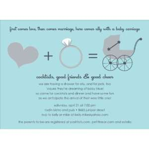 Love + Marriage Bali Baby Shower Invitations