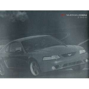 2000 Ford Mustang SVT Cobra Original Sales Brochure