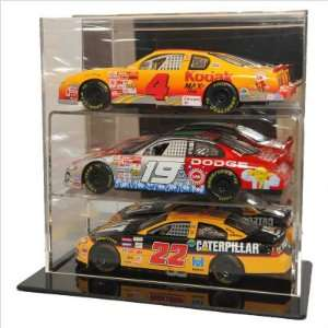 Caseworks Three 124 Diecast Cars Display Case With Mirror