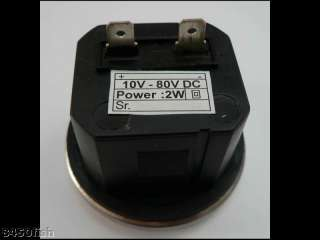 Round Hour Meter  Boat, Car, Truck, 10 80 VDC SS