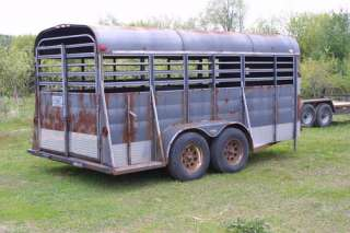 Horse Stock Trailer Bumper Pull Brakes Lights cuddie door rear slider