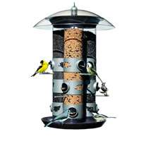 BIRDSCAPES TRIPLE TUBE BIRD FEEDER