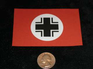 ID FLAG Baltic Cross WW2 German PANZER WWII Army MILITARY MODEL