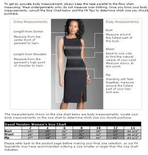 298 New David Meister Asymmetrical Matte Jersey Sheath Dress 12