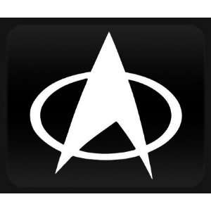 Star Trek Badge White Sticker Decal Automotive