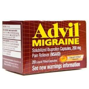 Advil  Migraine Pain Reliever, 20 liquicaps Health