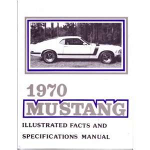1970 FORD MUSTANG Facts Features Sales Brochure Book Automotive