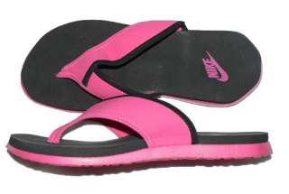 Womens Nike Celso Thong Plus flip flops shoe pink black