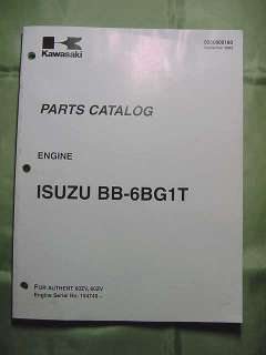 Engine parts manual for Kawasaki Wheel Loader Model 60ZV, Model Engine