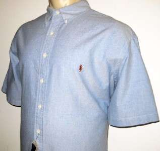 3XB RALPH LAUREN MENS SHIRT Light Blue Denim Short Sleeve 3X 3XL BIG
