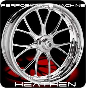 MACHINE HEATHEN FRONT WHEEL & TIRE HARLEY FLH FLHR FLHX FLTR
