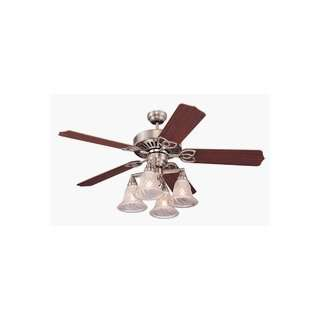 Monte Carlo 5TX52BS Titan XL Ceiling Fan Brushed Steel Finish with