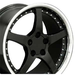 Style Wheels Fits Camaro Corvette   Black 18x9.5 Set of 4 Automotive