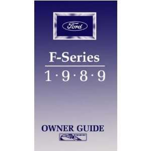 1989 FORD F SERIES TRUCK Owners Manual User Guide