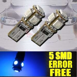 T10/192 BASE BLUE ERROR FREE 5 LED INTERIOR LIGHTS BULBS