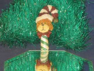 BOYDS BEARS & FRIENDS DOG CANDY CANE CHRISTMAS PIN CUTE