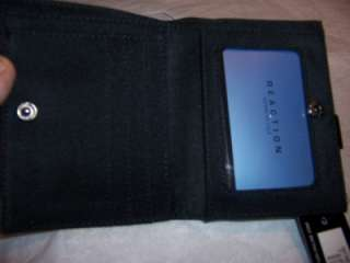 Kenneth Cole Reaction Small Black Leather Wallet