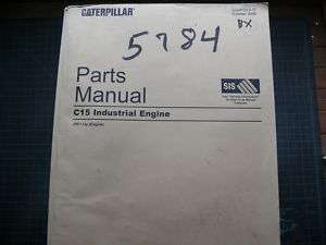CAT Caterpillar C15 Engine Parts Manual Book Catalog a