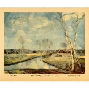 White Birch Trees Carlberg Art   Original Color Print