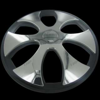 Set of 4 15 Chrome Spinner Spinning Hubcaps Hub Caps Wheel Covers