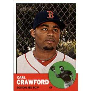 2012 Topps Heritage 96 Carl Crawford   Boston Red Sox (ENCASED MLB