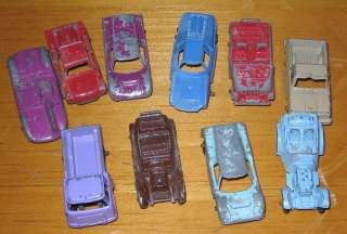 Lot of (10 different) Tootsie Toy cars and trucks lot in condition as