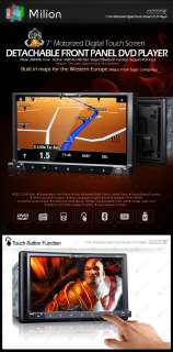 G2223E 7 2 DIN Detachable Car GPS Navigation DVD Stereo Radio IPOD